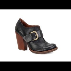 KORKS by Kork Ease Sz 9.5 Leather Stack Heel Boots
